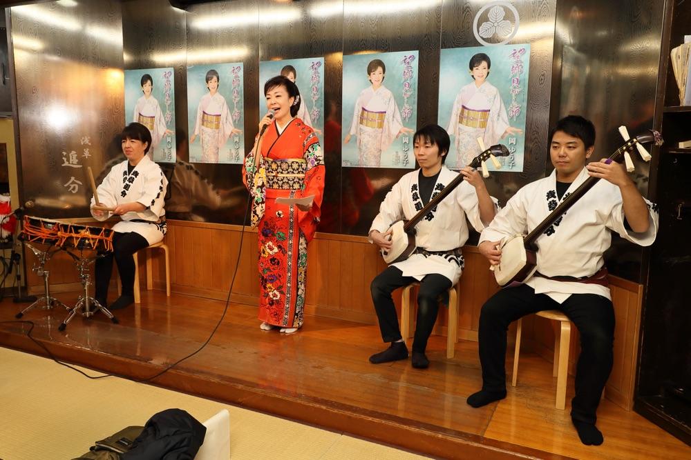 岡ゆう子、浅草・民謡酒場「追分」で新曲「望郷貝がら節」発表会開催