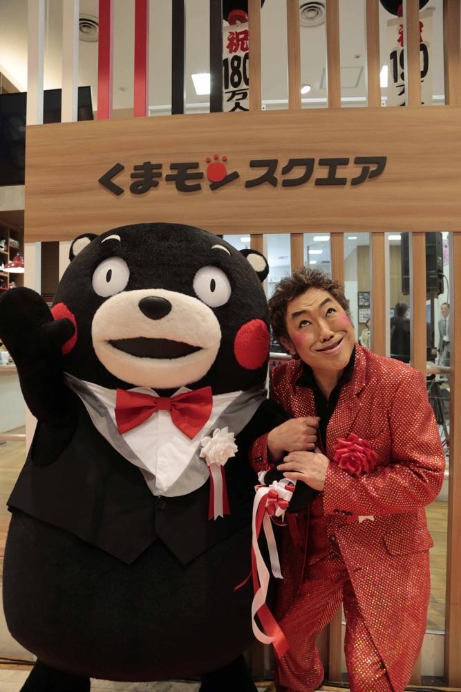 コロモンと名乗ったコロッケ&くまモンが地元熊本の聖地で共演
