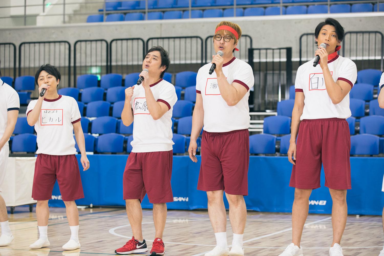松原健之、純烈、はやぶさ、徳永ゆうきら演歌男子。8組がチーム対抗「大運動会」