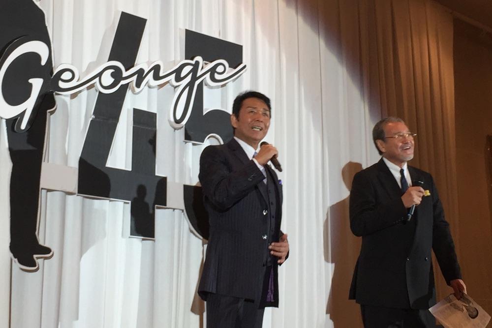 山本譲二、45周年記念曲発売イベントに盟友・吉幾三&がん手術を公表