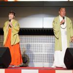 細川たかし、日本酒イベント広報大使を務め、愛弟子・杜このみとミニコンサート披露