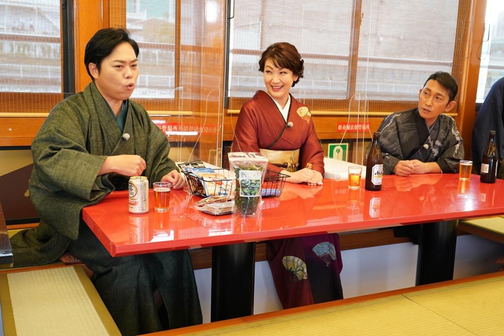 福田こうへい、三山ひろし、市川由紀乃が屋形船で「ふるさと自慢!」共演
